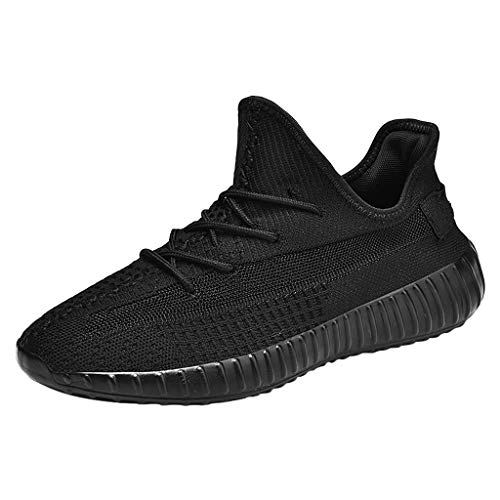 CUTUDE Herren Urnschuhe Bequem Mesh Ultra-Leicht Atmungsaktives Mesh-Herren-Slip Outdoor-Schuhe Sneakers Wilde Freizeit Laufschuhe (Schwarz, 41 EU)