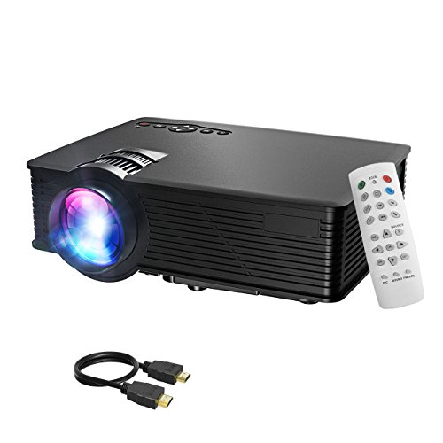 LCD proyector, Mpow LCD Projector 1200 lúmenes LED Mini proyector Home Cinema portátil Multimedia...