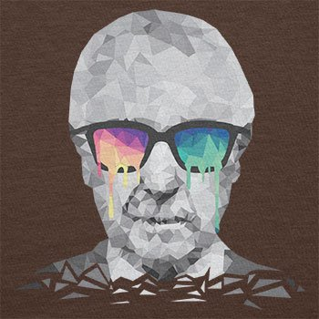 NERDO - Poly Psychedelic Albert - Herren T-Shirt Braun