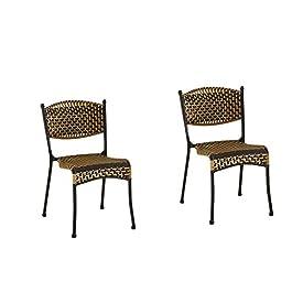 DCCYZ-YJ 2 Packs Chaise Chaise en rotin Retour Tabouret en Plastique Bamboo président Accueil Chaise Chaise Unique…