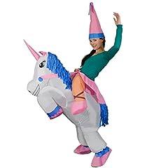Idea Regalo - GiggleBeaver - Costume Gonfiabile da Principessa con Unicorno, per Halloween, Feste in Maschera e Cosplay