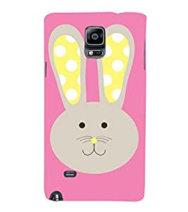 Meow Cat Girly 3D Hard Polycarbonate Designer Back Case Cover for Samsung Galaxy Note 4 N910 :: Samsung Galaxy Note 4 Duos N9100