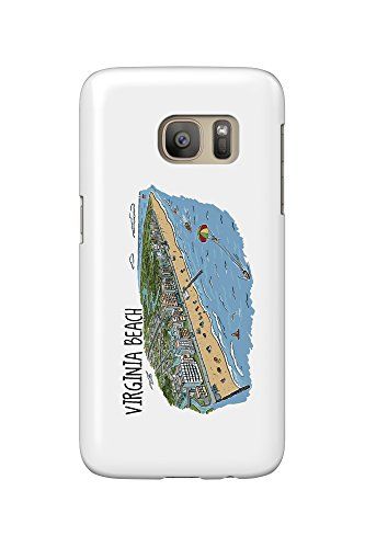 virginia-beach-virginia-line-drawing-galaxy-s7-cell-phone-case-slim-barely-there