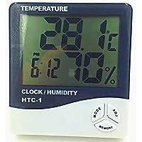 HANBIN Termómetro LCD digital Monitor de temperatura e higrómetro HTC-1