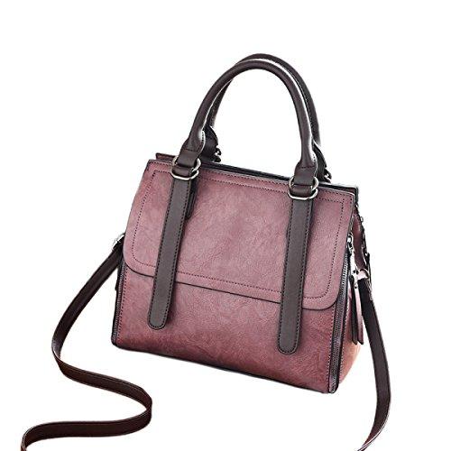 Sacchetti Di Spalla In Pelle Borsa Donna Per Donne Borse Messenger Messenger Moda Borse Grandi In Tessuto Purple