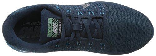 Nike Lunarglide 7 Flash, Chaussures de Running Entrainement Homme Bleu / Argenté (Sqdrn Blue / Rflct Slvr-Bl Lgn)