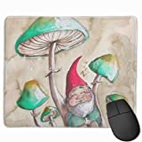 Personalized Gnomes Funny Patio Yard Mouse Pad Rectangle Non-Slip Rubber Mousepad Gaming Mouse Pad 30 Cm X 25 Cm
