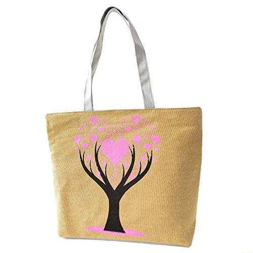 Beach Bags Women Summer Canvas Bag Printed Flowers Zipper Shoulder Bags For Woman,D