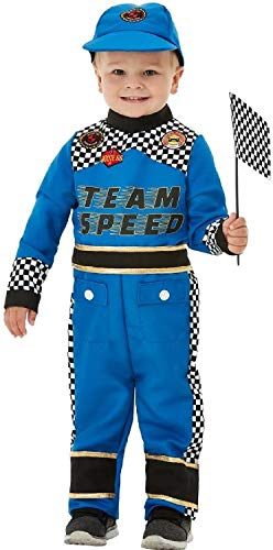 Fancy me travestimento da pilota speed king formula one per ragazzi, colore blu