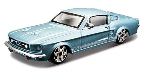 1967 Ford Mustang GT [Bburago 30010] Blu metallizzato, 1:43 Metallo pressofuso (Die Cast)