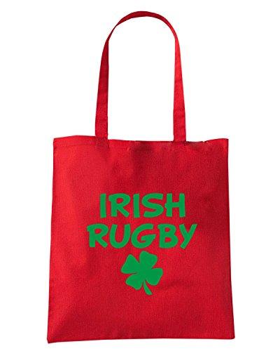 T-Shirtshock - Borsa Shopping TRUG0157 irish rugby light logo Rosso
