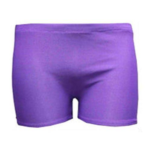 Stretch pour femme Uni-Short Short Sexy style fête Danse Taille 36–42 Violet - Violet