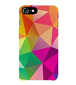 FUSON Abstract Background Consisting Triangles 3D Hard Polycarbonate Designer Back Case Cover for Apple iPhone 7