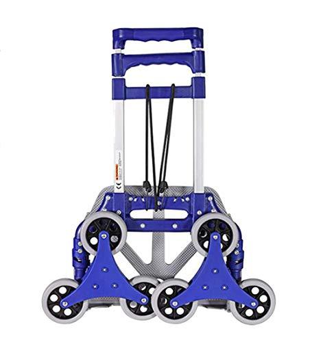 QIANGDA-Handwagen Sackkarre Klappbar Kompakt Und Leicht Zusammenklappbar Konvertierbar Treppensteiger Zum Einkaufen, 38,5 X 28 X 100cm