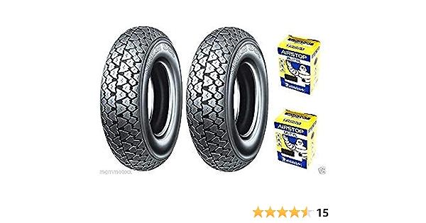 1 Paar Reifen Michelin S83 3 00 10 Schläuche Für Vespa Special 50 N R Auto