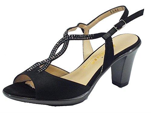 MELLUSO  R5903 Nero, Sandales pour femme Noir - Nero