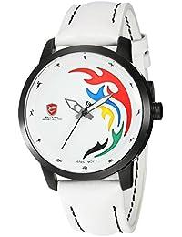 Shark SH515 - Reloj Hombre Cuarzo de Cuero Blanco
