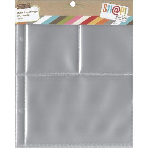 Simples étages 2005 Snap Poche Pages pour 6 x 20,3 cm classeurs, Multicolore, Lot de 10