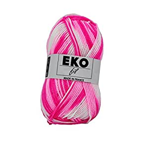 UTE - Pelote de laine à tricoter Eko fil color - OKE ! - Rose 323