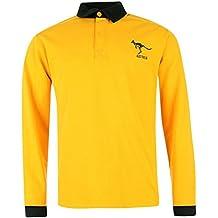 Team Australia Long Sleeve Rugby Shirt Hombres (Medium)
