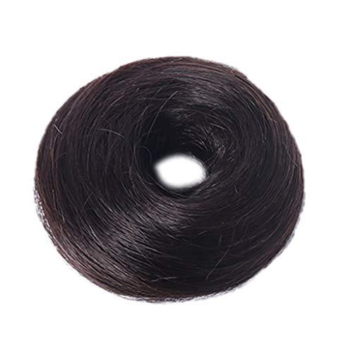 Jkhhi chignon capelli finti extension elastico hair bun updo ponytail anello per capelli extensions coda di cavallo posticci ricci biondi ciambella