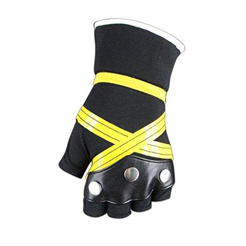 Chong Seng CHIUS Cosplay Costume Accessory Black Yellow Gloves Foe Sora V2