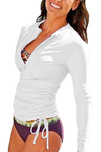Rashguard Damen Langarm Uv Schutz Basic Skins Shirt Schwimmshirt