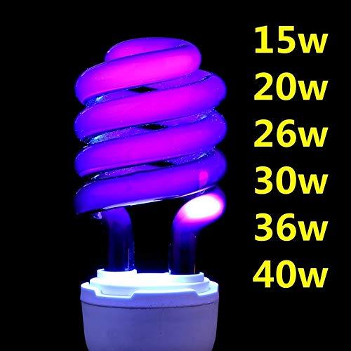NO LOGO RCKJB Bombilla 220V E27 15-40W luz Ultravioleta UV Ultravioleta Fluorescente Bombilla de CFL...