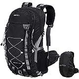 VENTCY Sac à Dos Randonnée Sac Trekking Femme Homme College Ordinateur Voyage Impermeable Trekking Camping 40L Noir