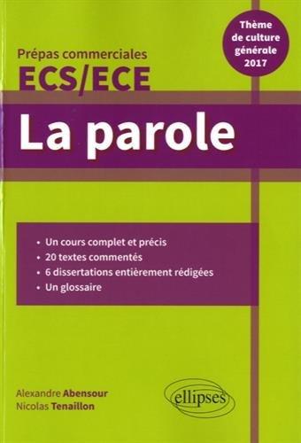la-parole-thme-de-culture-gnrale-2017-prpas-commerciales-2017