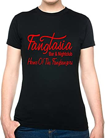 FANGTASIA ~ TRUE BLOOD ~ MENS/WOMENS T-SHIRT With RED GLOSS Skinny Large Black