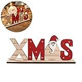 Kylewo Scritte di Natale in Legno: Scritte di Natale per la Decorazione della tavola di Natale, Supporto per la Decorazione dell'Avvento di Natale