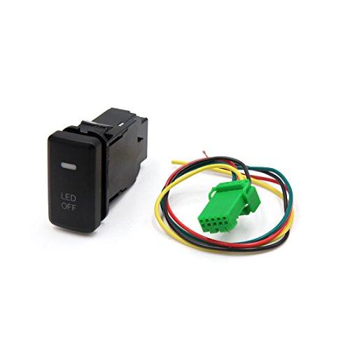 Sourcingmap® Plastique Noir automatique de voiture 5 broches LED Interrupteur on/off Push Button ampoule de brouillard