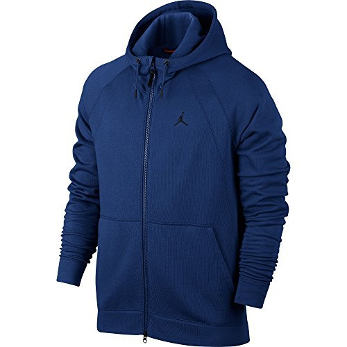 Jordan Sportswear Wings Fleece Men's Full-Zip Hoodie Blue/Black 860196-455 (Size S) Jordan Mens Fleece