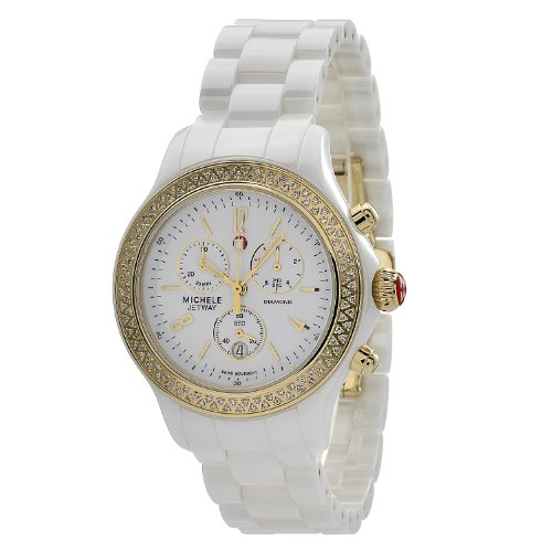 Michele MWW17B000007 - Reloj de pulsera Mujer, Cerámica, color Blanco