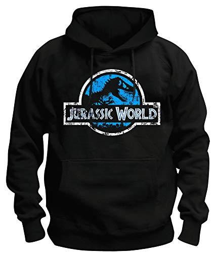 TSP Jurassic World Distressed Logo Kapuzen-Sweatshirt Herren M Schwarz (Sweatshirt Jurassic Park)
