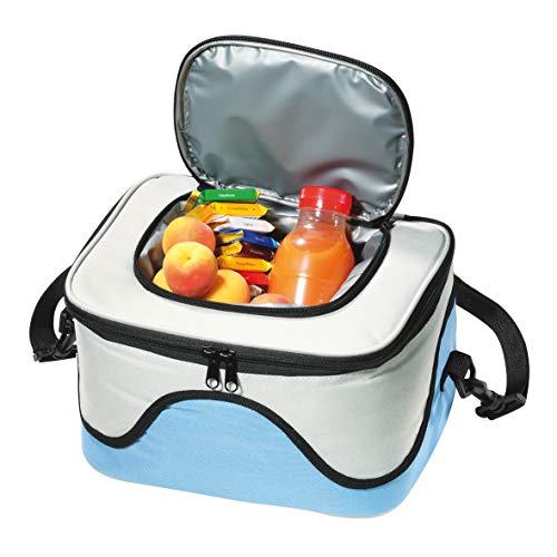 elastofit Campingtasche Kühltasche mit Tragegurt Strandtasche Isoliertasche Größe: 255 x 204 x 165 mm