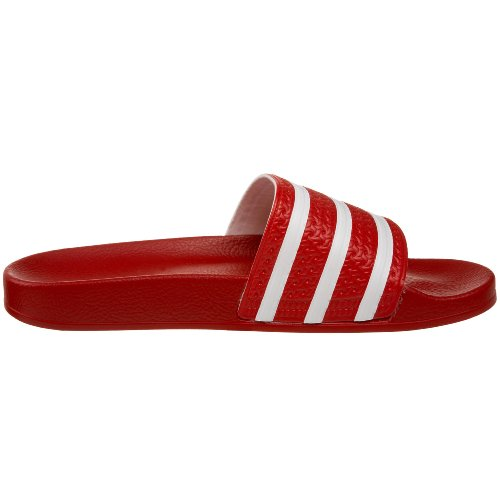 adidas - Adilette, Scarpe da spiaggia e da doccia Unisex – Adulto Scarlet/White/Scarlet