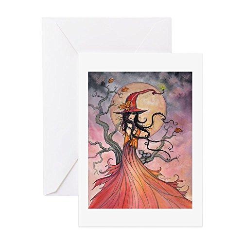 CafePress–Herbst Magic–Grußkarte, Note Karte, Geburtstagskarte, innen blanko, matt