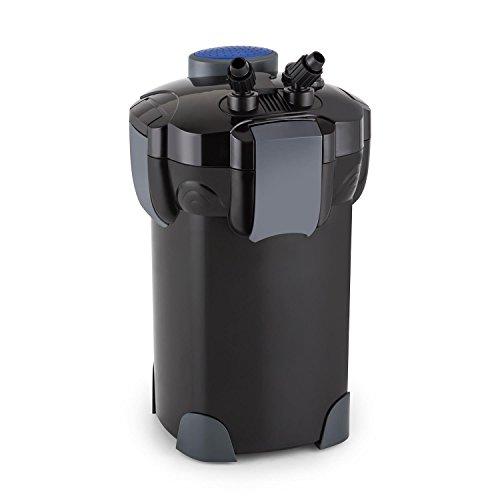 Waldbeck Clearflow 18 • Aquarium Außenfilter • für Aquarien bis 400 Liter Kapazität • 18 Watt Pumpenmotor • 3-Stufen-Filter • Wasser-Durchstrom bis zu 1000 Liter/St. • 2 x Schlauch von 1,6 m