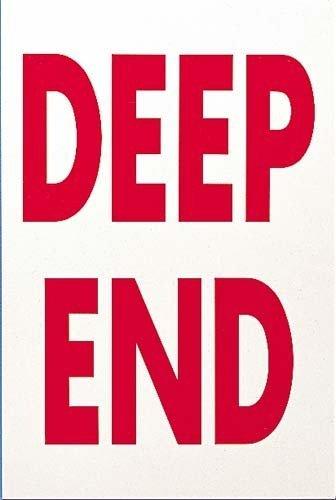 Deep End-pools (Schwimmbad Sicherheit Warnung Deep End Schild PROHIBITION Foamex Aufkleber Wand Schild)