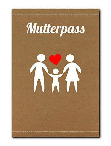 Hellbraune Mutterpass-Hülle aus SnapPap mit Familie