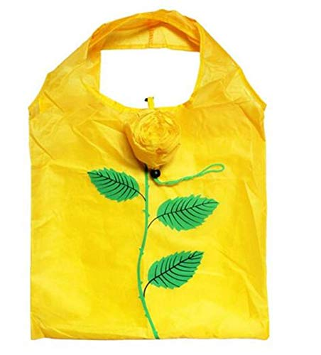 Skyeye 2 Stück Wiederverwendbare waschbar Faltbare und tragbare gelbe Blume Einkaufstasche Handtasche in...