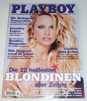 Playboy Magazin Deutsche Ausgabe 10/2000 Blond, Pamela Anderson, Samantha Fox