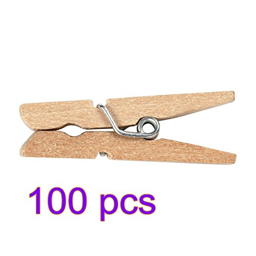 lcck-100-pcs-25-mm-mini-clip-hering-wscheklammer-holz-fotopapier-kleiderroller-pin
