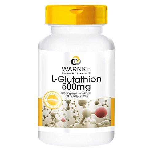 Warnke Gesundheitsprodukte L-Glutathion 500mg - reduziert - 100 vegane Tabletten