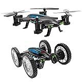 Mallalah RC Drone Voiture 2 en 1Quadricoptère Car Air-Road 2.4G Télécommandé 0.3...