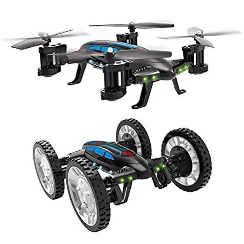 Mallalah RC Drone Voiture 2 en 1Quadricoptère Car Air-Road 2.4G Télécommandé 0.3 MP Caméra WiFi FPV Transmission en Temps Réel Volante Véhic... 4