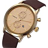North Casual Watch For Men Analog Leather - 6008
