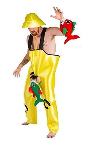 Imagen de disfraz de pescador con pirañas  hombre, l